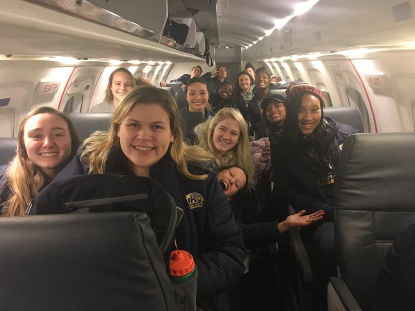 team on plane