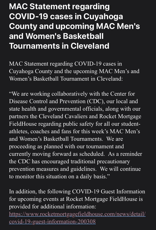 Mac statement